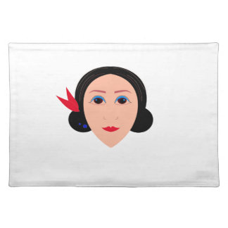 Wellness woman on white placemat