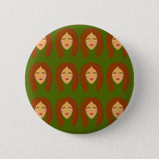 Wellness women / on olive bg 2 inch round button