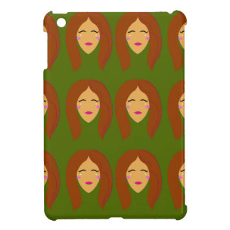 Wellness women / on olive bg iPad mini cover