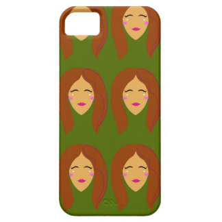 Wellness women / on olive bg iPhone 5 cover