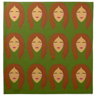 Wellness women / on olive bg napkin