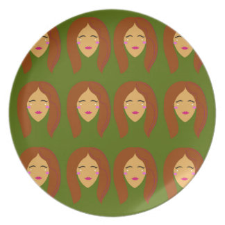 Wellness women / on olive bg plate