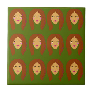 Wellness women / on olive bg tile