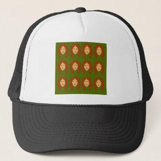 Wellness women / on olive bg trucker hat
