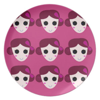 Wellness women pink plate