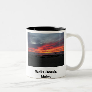 Wells Beach Maine 9-05, Wells Beach, Maine , Se... Two-Tone Coffee Mug