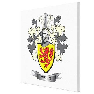 Wells Coat of Arms Canvas Print