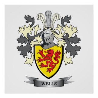 Wells Coat of Arms Poster