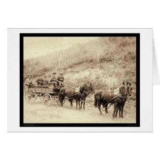 Wells Fargo Deadwood Treasure Wagon SD 1890 Card