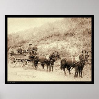 Wells Fargo Deadwood Treasure Wagon SD 1890 Poster