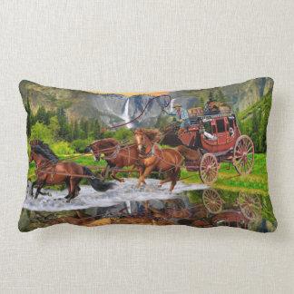 Wells Fargo Stagecoach Lumbar Pillow