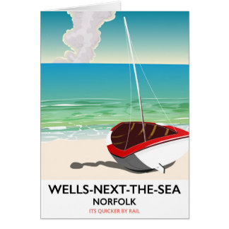 Wells-next-the-Sea Norfolk Beach travel poster Card