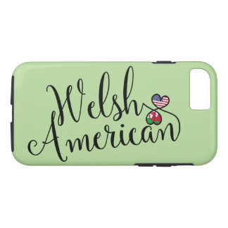 Welsh American Entwined Hearts Cell Phone Case