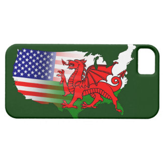 Welsh American Flags Map iPhone 5 Case
