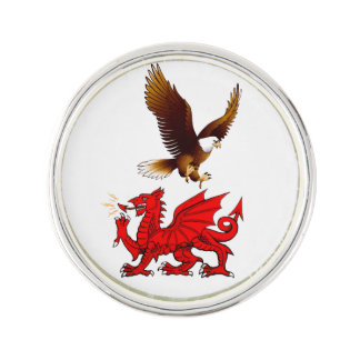Welsh - American Pin Lapel Pin
