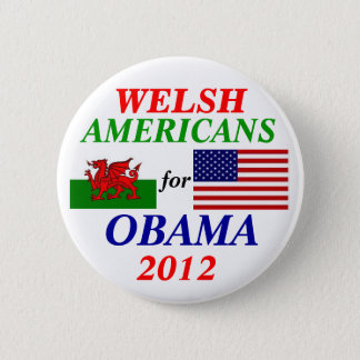 Welsh americans for Obama 2 Inch Round Button