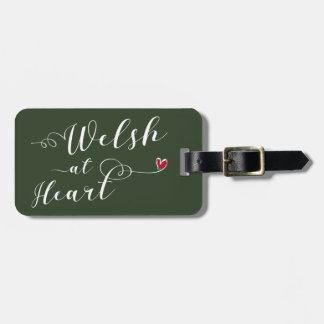 Welsh At Heart Luggage Tag Template, Wales