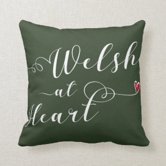 Welsh At Heart Throw Cushion, Wales Throw Pillow