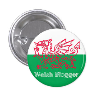 Welsh Blogger Badge 1 Inch Round Button