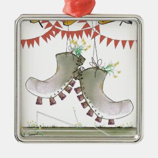 welsh boots metal ornament