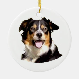 Welsh Border Collie Ceramic Ornament