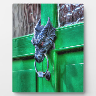 Welsh Cast Iron Dragon Head Door-knocker Plaque
