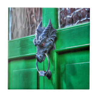 Welsh Cast Iron Dragon Head Door-knocker Tile