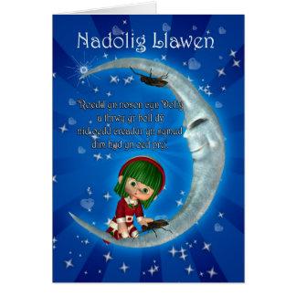 Welsh Christmas Card Nadolig Llawen Humour