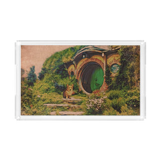 Welsh Corgi at Hobbiton Acrylic Tray