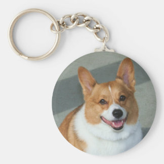Welsh Corgi Basic Round Button Keychain