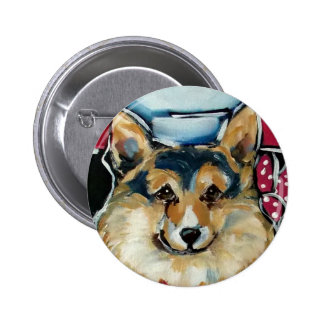 Welsh Corgi Cardigan Pinback Button