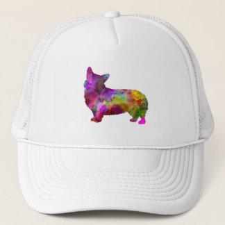 Welsh Corgi Cardigan in watercolor Trucker Hat