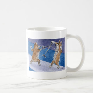 Welsh Corgi dog fencing Coffee Mug