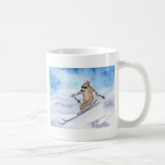 Welsh Corgi dog skiing Coffee Mug