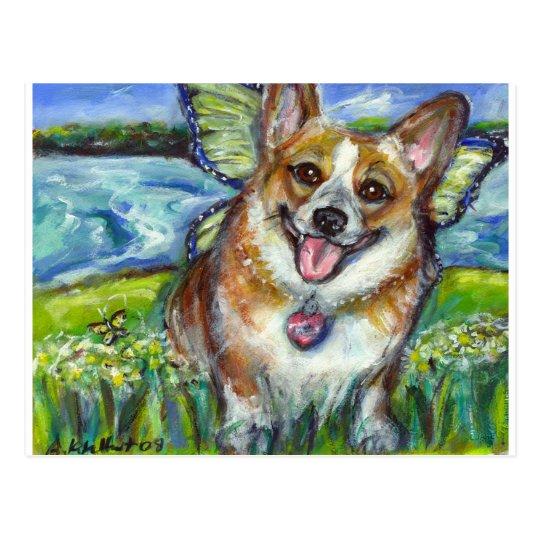 Welsh Corgi Fairy Dog Postcard