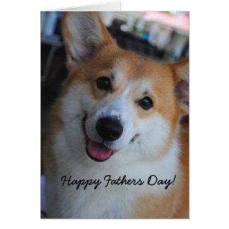 Welsh Corgi Happy Fathers Day Card
