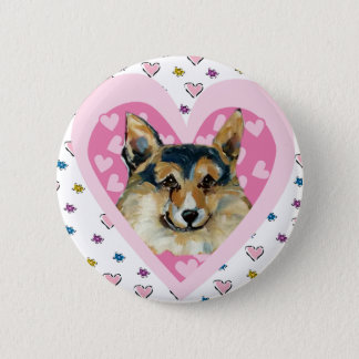 WELSH CORGI PEMBROKE 2 INCH ROUND BUTTON