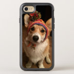 Welsh Corgi Pembroke Wearing A Hand Knitted Hat OtterBox Symmetry iPhone 8/7 Case