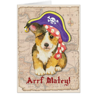 Welsh Corgi Pirate Card