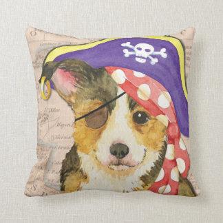 Welsh Corgi Pirate Throw Pillow