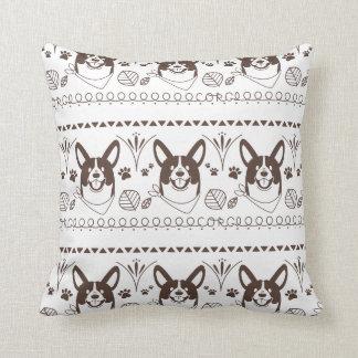 welsh corgi throw pillow