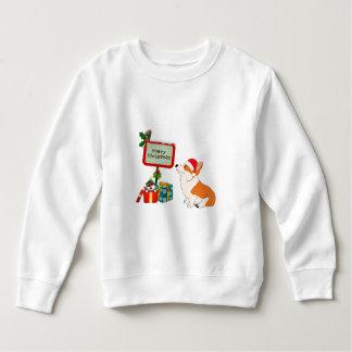 Welsh Corgi with Santa Hat and Sign Sweatshirt