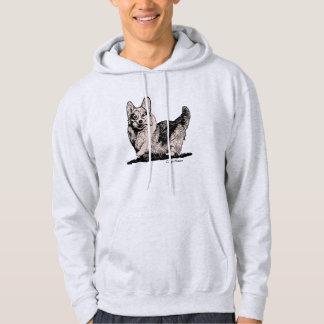 Welsh Corgi with Tail Men's Sweatshirt