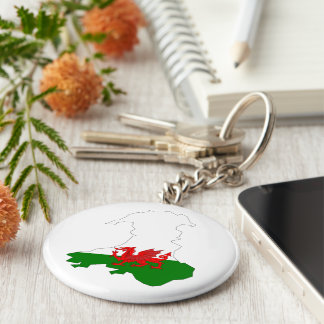 Welsh country flag keychain