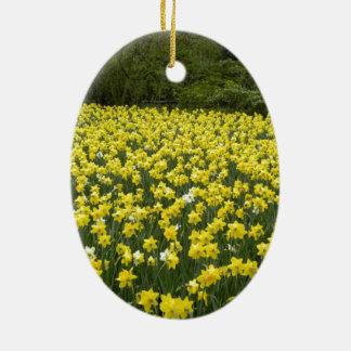 Welsh daffodils, Cymru am byth Ceramic Ornament
