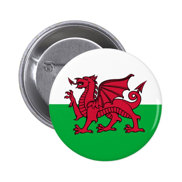 Welsh Dragon 2 Inch Round Button