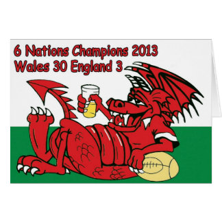 Welsh Dragon, 6 Nations Champions, Wales v England Card