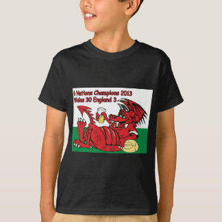 Welsh Dragon, 6 Nations Champions, Wales v England T-Shirt
