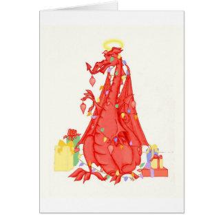 Welsh Dragon Christmas Card - Welsh