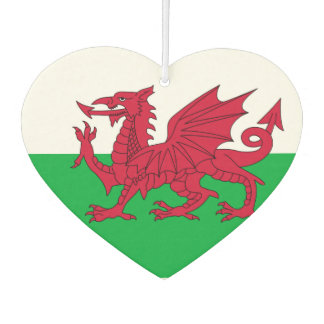 Welsh dragon flag air freshener